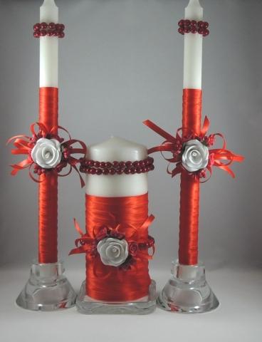 свечи семейный очаг красные купить