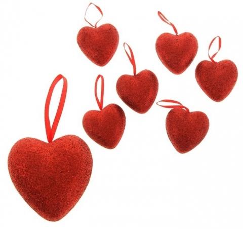 сердечки висячие купить