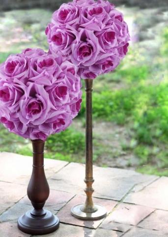 шар сиреневый цветочный фото