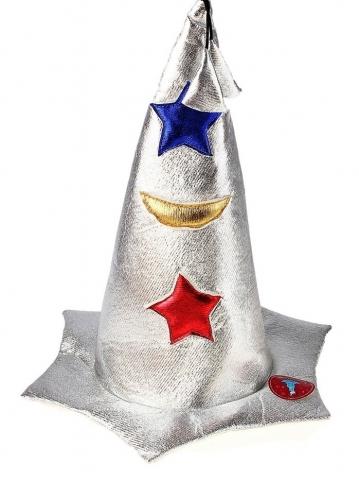 шляпа серебристая звездочет