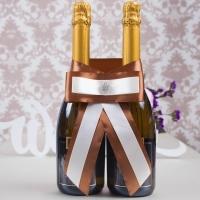 украшение на шампанское коричневое