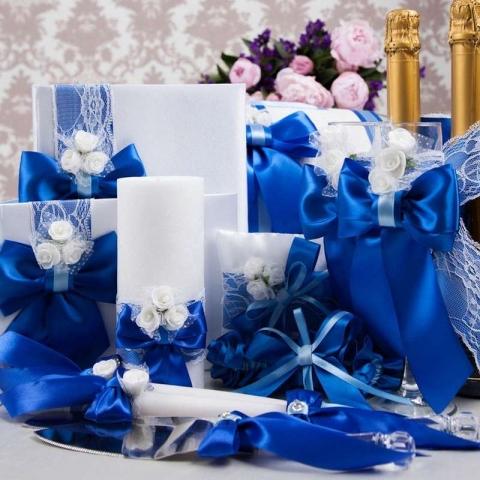 синяя свадебная коллекция ручной работы купить