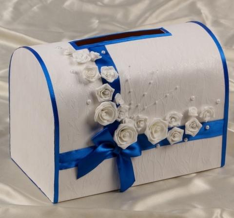синие сундучки на свадьбу фото