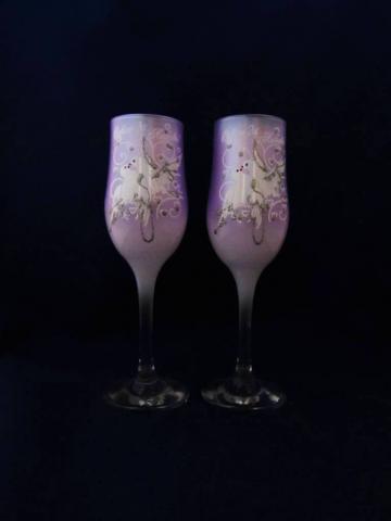 сиренвые бокалы на свадьбу фото