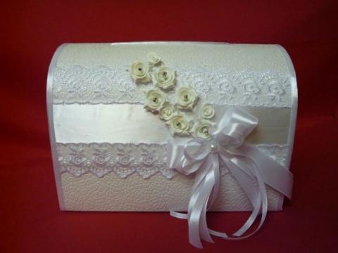 свадебная коробка белая фото