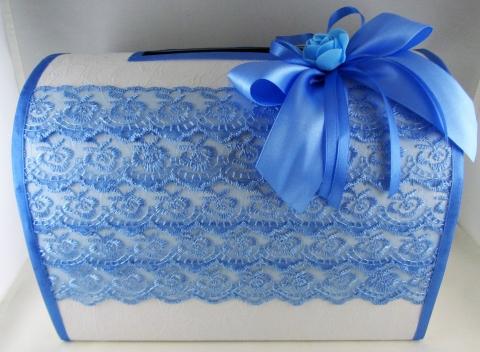 сундучок голубой для денег на свадьбу
