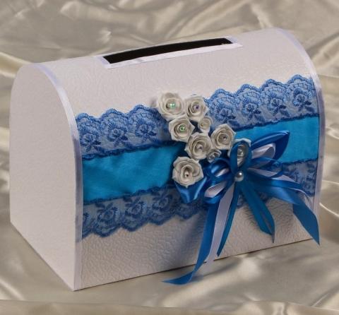 бирюзовый свадебный сундучок фото