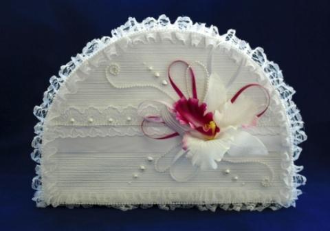 сундучок на свадьбу с орхидеями фото