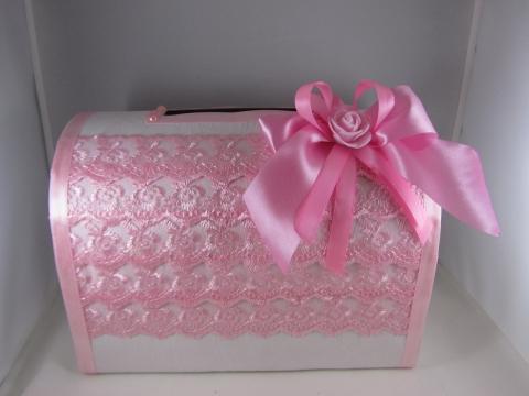 коробка для денег розовая фото