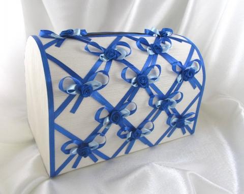 синий коробка деньги свадьба фото
