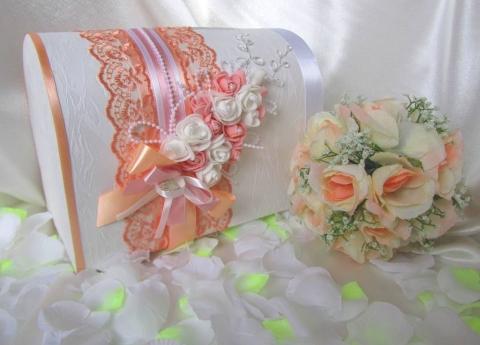 сундучок на свадьбу персковый фото