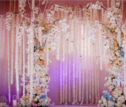 фотостена свадебная розовая фото