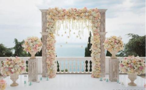 свадебная стена бежевая фото