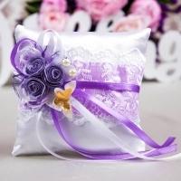 свадебная подушечка сиренево-фиолетовая