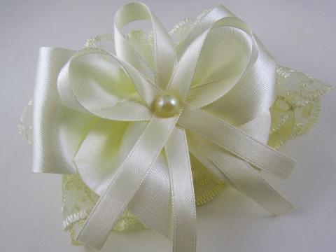 свадебная подвязка айвори купить