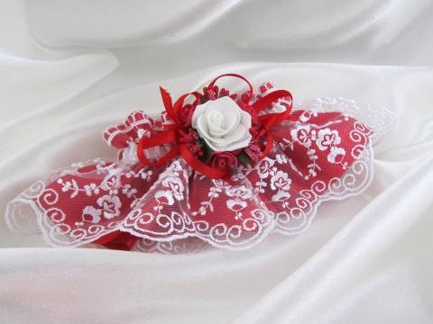 красивые красные свадебные подвящки купить