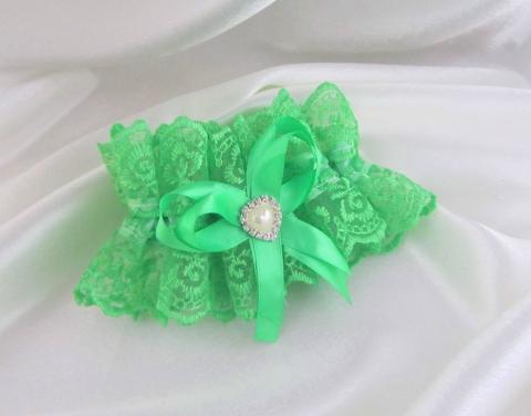 подвязка невесты мятная фото
