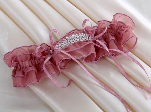 брусничная подвязка, темно-розовая