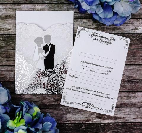 свадебное приглашение дорогое красивое