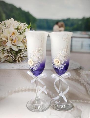 бело-фиолетовые окалы свадебные фото