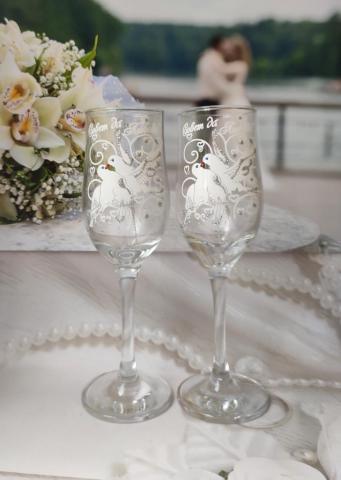 свадебные фужеры фото