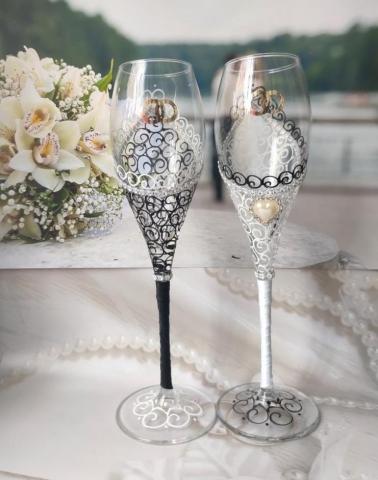 свадебные бокалы толстенькие фото