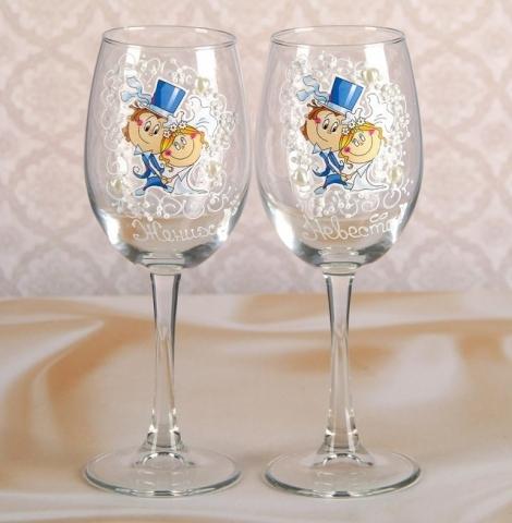 свадебные бокалы шуточные фото