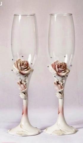 свадебные бокалы винтаж