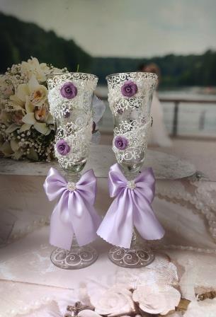 сиреневые свадебные бокалы купить сегодня 6:12