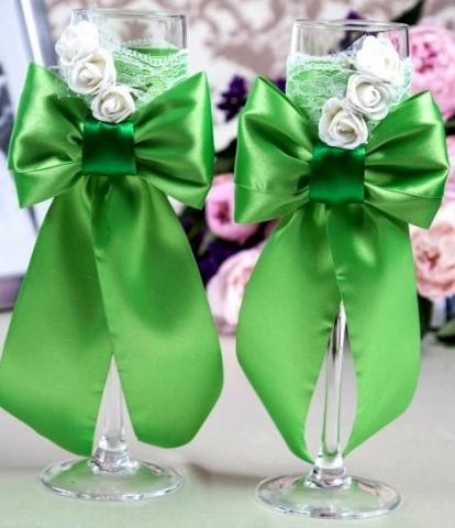 бокалы ручной работы зеленые фото