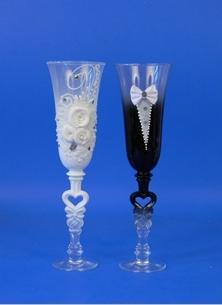жених и невеста лепка бокалы фото