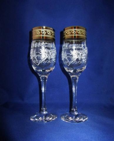 свадебные бокалы с гравировкой фото
