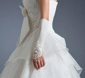 свадебные перчатки до локтя купить
