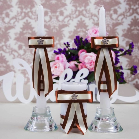 свадебные свечи шоколадные купить