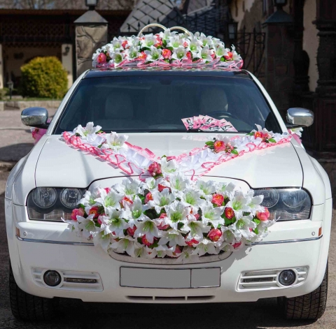 украшение лимузина на свадьбу купить