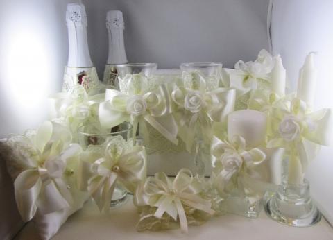 свадебный комплект аксессуаров айвори