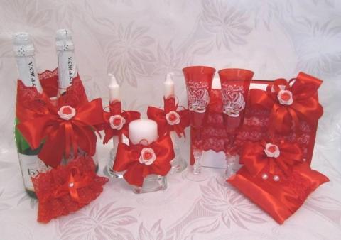 свадебные наборы красные фото