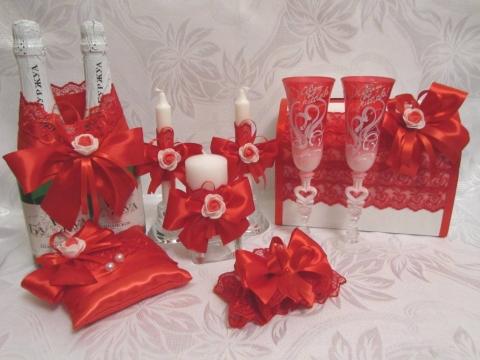 красный свадебные набор