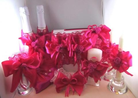 малиновый свадьба набор