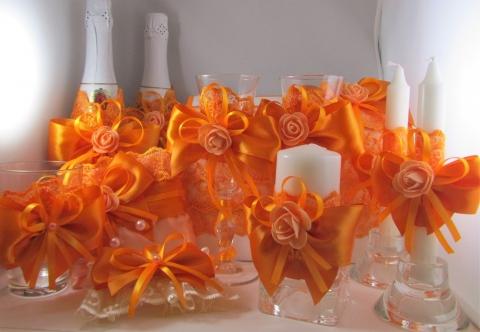 свадебный набор оранжевый купить