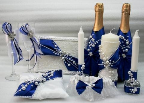 свадебные наборы синие фото