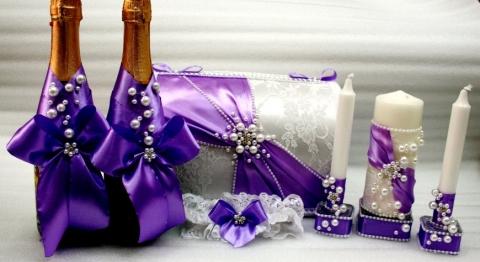 свадебный набор сиреневый фото