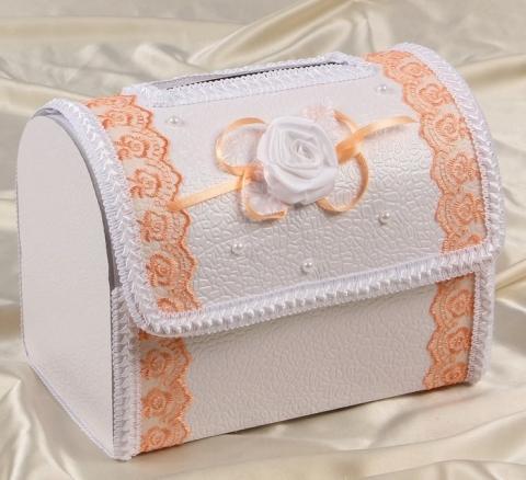 персиковые сундучки на свадьбу фото