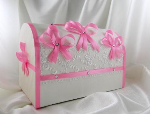 сундучки для денег свадбные розовые фото