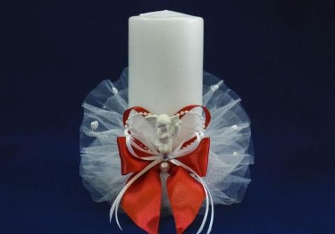 свеча очаг красная купить