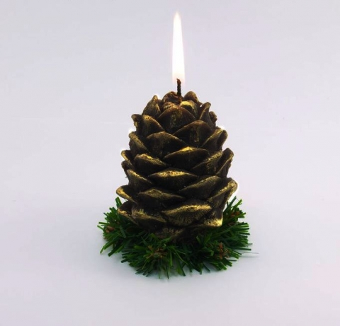 свечи шишки новогодние фото