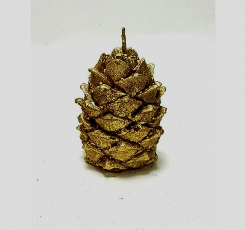 свеча шишка золотая фото