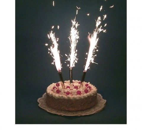 фейерверки на торт фото