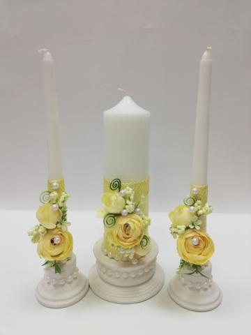 свечи очаг пионы айвори