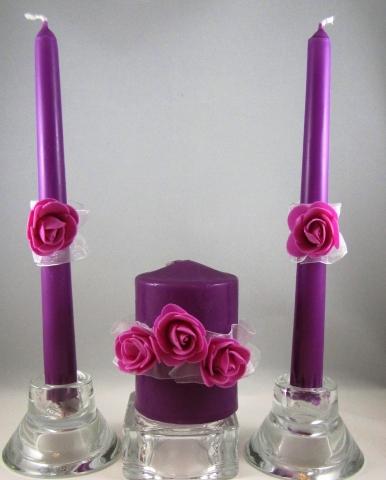 свечи фиолетовые малиновые купить